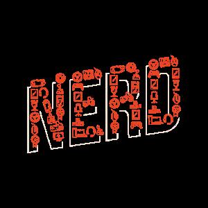 Nerd Shirts mit nerdigen Sachen werden Buchstaben
