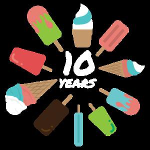 Geburtstag 10 Years 10. Geburtstag Ice Geschenk