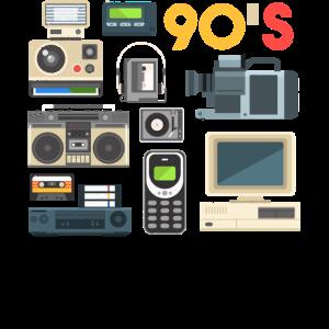 90 s , Kassetten Radio,Walkman , Beatbox, VHS