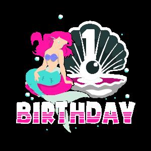 1.Geburtstag Mädchen Meerjungfrau Kinder Eins 1