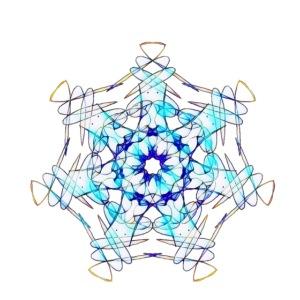Mandala Eiskristall