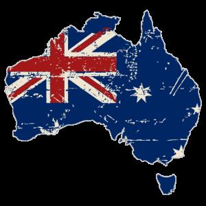 Australia Map Flag - Australien