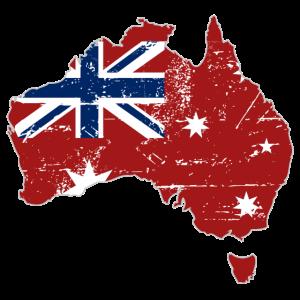 Maritime Australia Map Flag - Australien