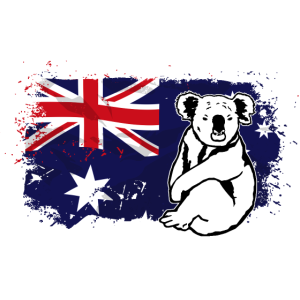 Koala - Australia Flag