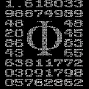 Verhältnis goldener Schnitt Φ = a : b = b : (a+b)