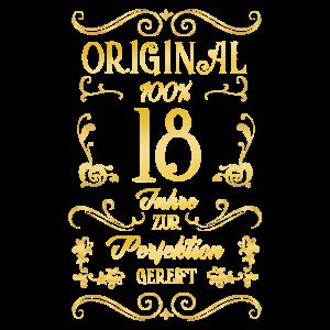 Original 18 Jahre Perfektion Geburtstag Geschenk