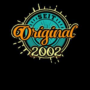 Original Seit 2002 Geburtstag Party Feier Geschenk
