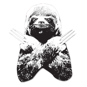 Slotherine Wolverine Faultier Vielfraß Mischling