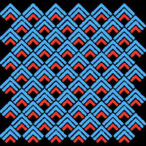 Geometrisches Muster mit Dreiecken
