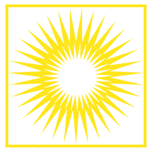 Geometrie Streifen Sonne abstrakt Quadrat