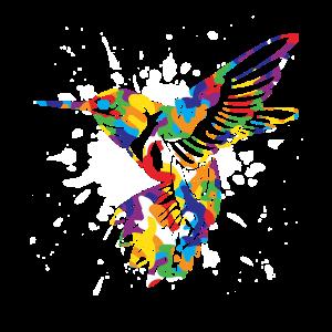 Eisvogel Farbsplash bunt Geschenk Vogel