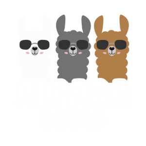 Alpaca Squad Alpaka Lama Haustier Tire Geschenk