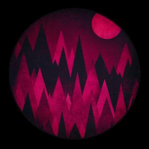 Dark Triangles (Dreiecke) Abstrakte Berge Design
