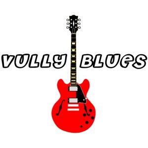 Guitare avec texte Vully Blues classique noir