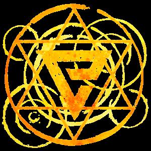 Magisches Symbol gelb
