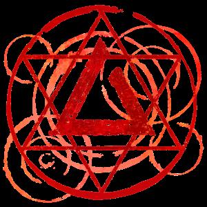 Magisches Symbol rot