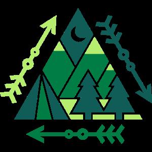 Outdoor-Muster (Dreiecke)