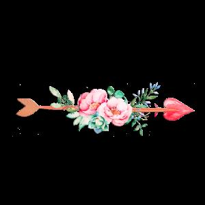 Pfeil Blumen Herz