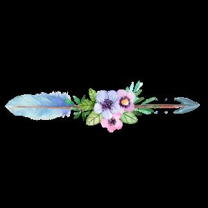 Feder Blumen Pfeil