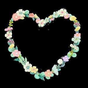 Blumen Herz Kranz