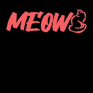 MEOW Cat MIAU Katze - korallenrot