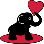 Süßer Baby Elefant mit Herz