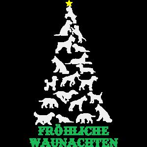 Fröhliche Waunachten Hunde Weihnachten