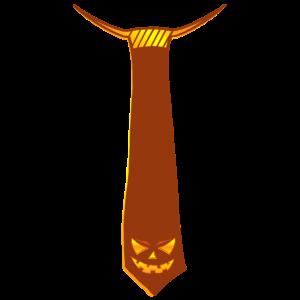 Halloween Krawatte mit Kuerbis Fratze