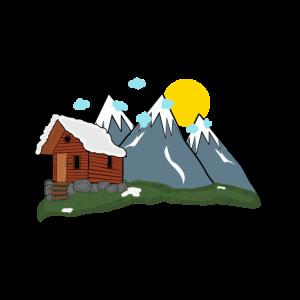 Einsame Alm in den Bergen