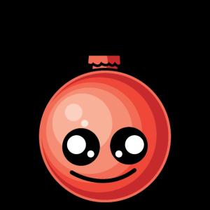 Lustige Weihnachtskugel