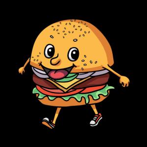 Lecker happy Burger Hunger Nahrung