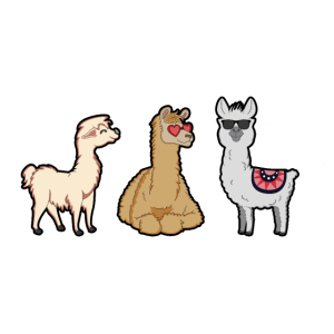 lustige Alpakas Lama Haustier Geschenk