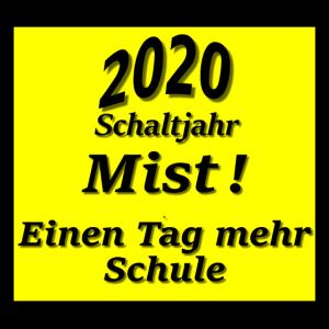 Schild 2020 Schaltjahr Mist ! Einen Tag ...