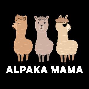 Alpaka Mama Lama Haustier Tier Geschenk