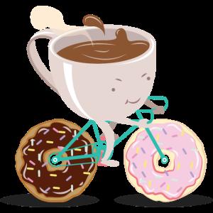 Donut Coffee Bicycle