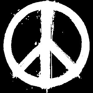 Peace Zeichen 2 weiß