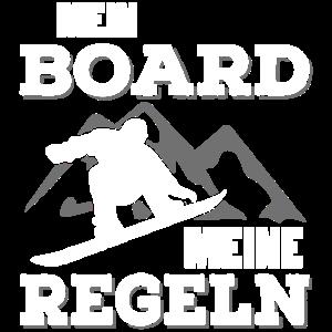 Snowboarder Winterurlaub