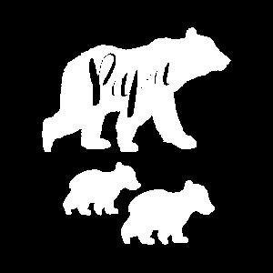 Papa Bear T-Shirt mit zwei Jungen