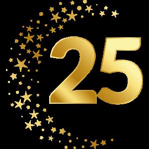 25 Jubiläum Geburtstag Ehrentag Geschenk Jahrestag