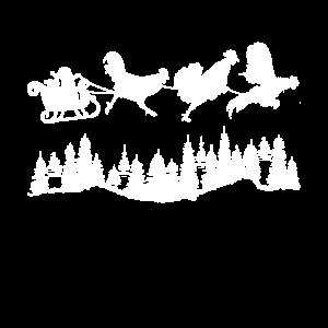 Weihnachten Huehner Hahn Haehne Schlitten Weihnach