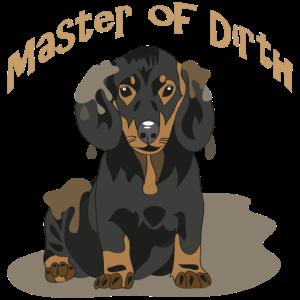 """Kleiner Dackel """"Master of dirth"""""""