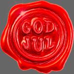 Rødt «god jul» lakksegl - detnorskeplagg.no