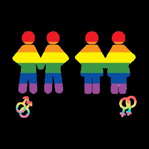 LGBT zusammen Regenbogen