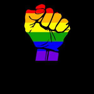 Stehen Sie für LGBT-Rechte Faust.