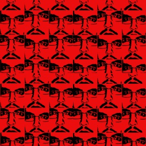 Ghemba Pop Art in rosso