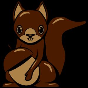 Eichhörmchen design gestreift
