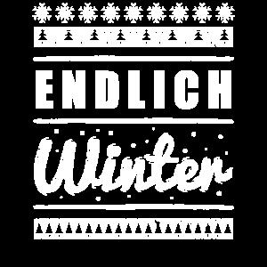Endlich Winter Wintermotiv Schnee Geschenkidee