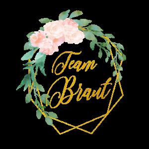 Personalisierbar Polygon Gold Blumen Team Braut