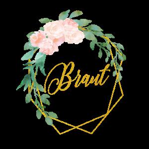 Personalisierbar Polygon Gold Blumen Braut