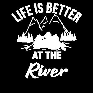 Fluss Leben Kanu